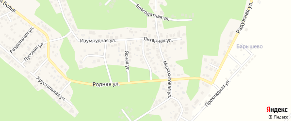 Улица Земляничная (мкр Родной) на карте села Кременкуль с номерами домов