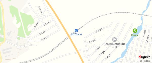 Километр 2078 на карте поселка Полетаево с номерами домов