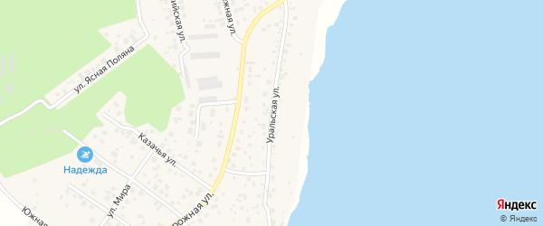 Уральская улица на карте села Кременкуль с номерами домов