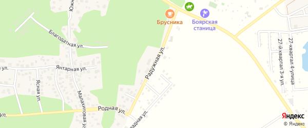 Улица Радужная (мкр Белые росы) на карте села Кременкуль с номерами домов