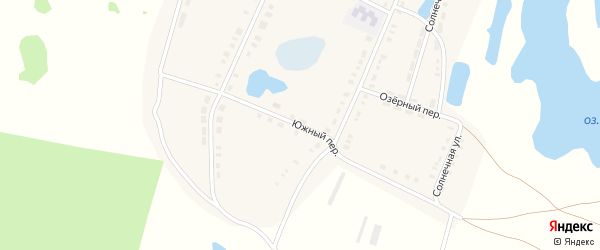 Южный переулок на карте поселка Новопокровки с номерами домов