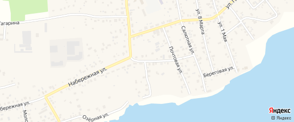 Набережная улица на карте поселка Смолина ж-д. ст. с номерами домов