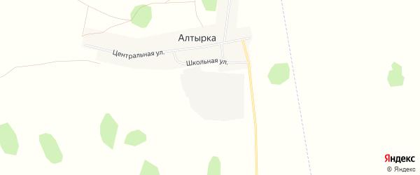 Карта поселка Алтырки в Челябинской области с улицами и номерами домов