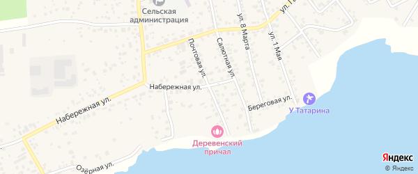 Почтовая улица на карте села Кременкуль с номерами домов