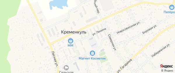 Улица Ленина на карте села Кременкуль с номерами домов