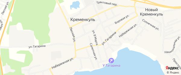 Карта села Кременкуль в Челябинской области с улицами и номерами домов