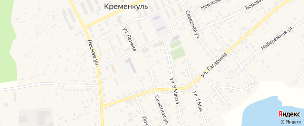 Улица Южная (мкр Белые росы) на карте села Кременкуль с номерами домов