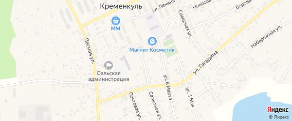 Сад Электрометаллург на карте села Кременкуль с номерами домов