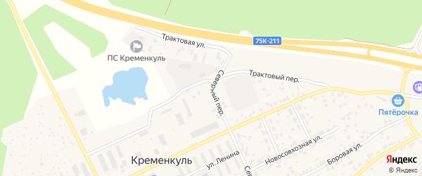 Трактовая улица на карте села Кременкуль с номерами домов