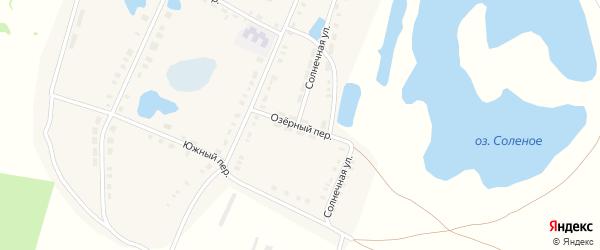 Озерный переулок на карте поселка Новопокровки с номерами домов