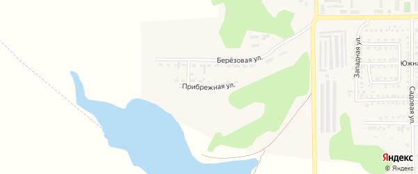 Прибрежная улица на карте Первомайского поселка с номерами домов