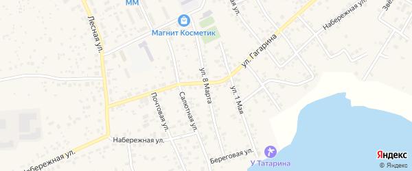 Улица 8 Марта на карте села Кременкуль с номерами домов