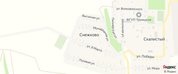 Выгонная улица на карте поселка Снежково с номерами домов