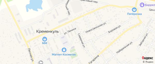 Северная улица на карте села Кременкуль с номерами домов