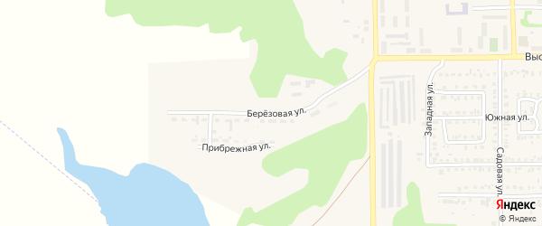Березовая улица на карте Первомайского поселка с номерами домов