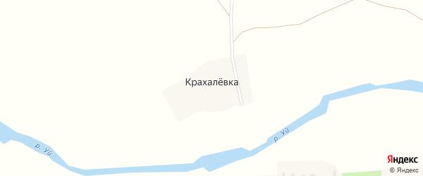 Нагорная улица на карте поселка Крахалевки с номерами домов