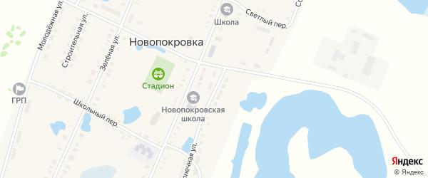 Солнечная улица на карте поселка Новопокровки с номерами домов