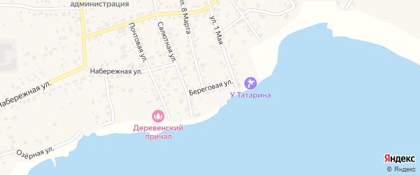 Береговая улица на карте села Кременкуль с номерами домов