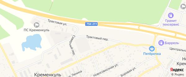 Сосновая улица на карте села Кременкуль с номерами домов