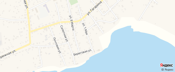 1 Мая улица на карте села Кременкуль с номерами домов