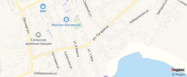 Набережная улица на карте села Кременкуль с номерами домов