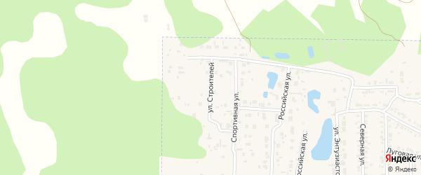 Улица Строителей на карте Первомайского поселка с номерами домов