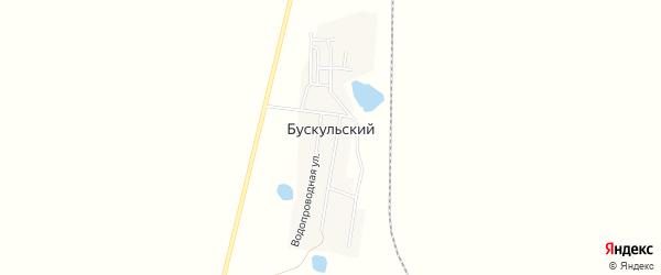 Карта Бускульского поселка в Челябинской области с улицами и номерами домов