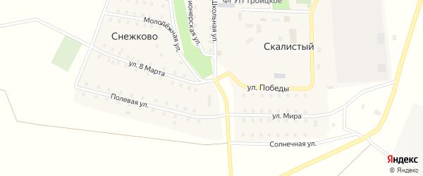 Улица Волковинского на карте Скалистого поселка с номерами домов