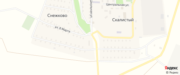 Солнечная улица на карте Скалистого поселка с номерами домов