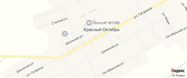 Улица Гагарина на карте поселка Красного Октября с номерами домов