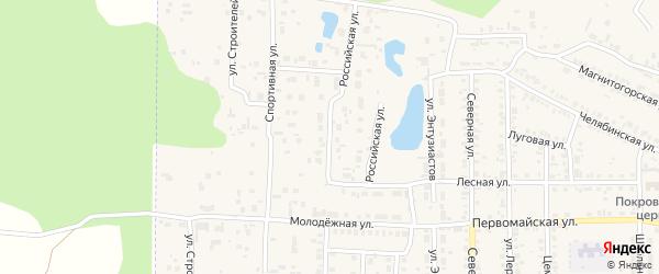 Улица Оптимистов на карте Первомайского поселка с номерами домов