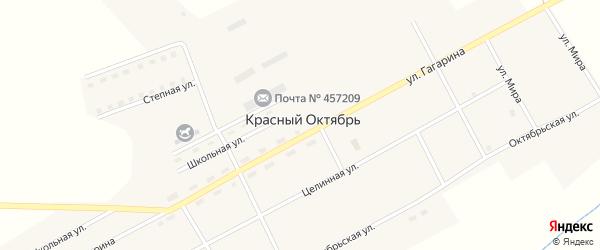 Улица Мира на карте поселка Красного Октября с номерами домов