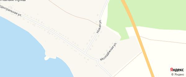 Новая улица на карте деревни Малого Куяша с номерами домов