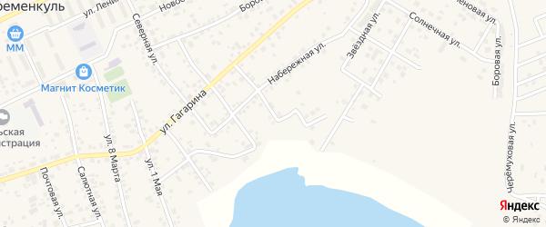 Озерная улица на карте села Кременкуль с номерами домов