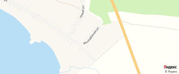 Молодежная улица на карте деревни Малого Куяша с номерами домов
