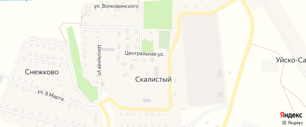 Полевая улица на карте поселка Снежково с номерами домов
