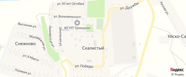 Улица 8 Марта на карте поселка Снежково с номерами домов