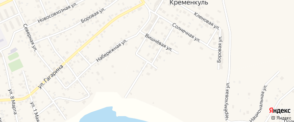 Лазурная улица на карте поселка Нового Кременкуль с номерами домов