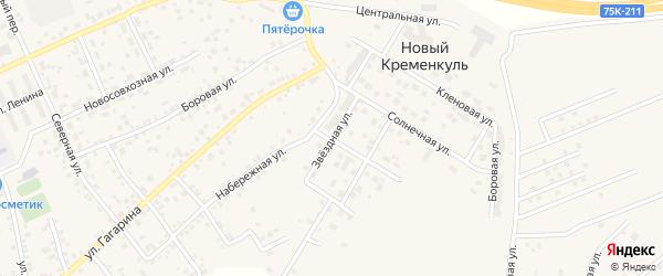 Звездная улица на карте поселка Нового Кременкуль с номерами домов