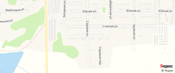 Береговая улица на карте Первомайского поселка с номерами домов