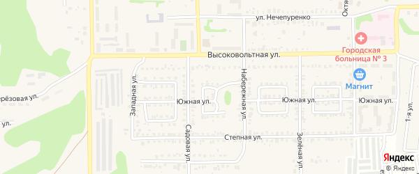 Шиферный переулок на карте Первомайского поселка с номерами домов