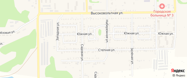 Трубный переулок на карте Первомайского поселка с номерами домов