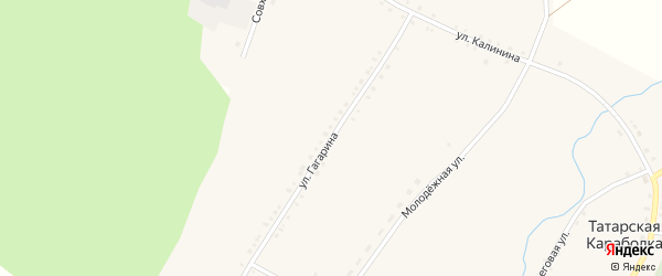 Улица Гагарина на карте села Татарской Караболки с номерами домов