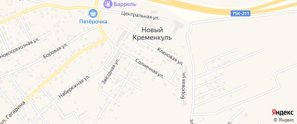Улица Солнечный Бульвар на карте поселка Нового Кременкуль с номерами домов