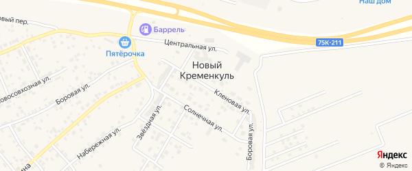 Кленовая улица на карте поселка Нового Кременкуль с номерами домов