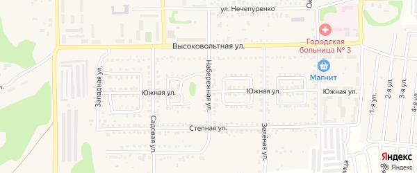 Набережная улица на карте Первомайского поселка с номерами домов