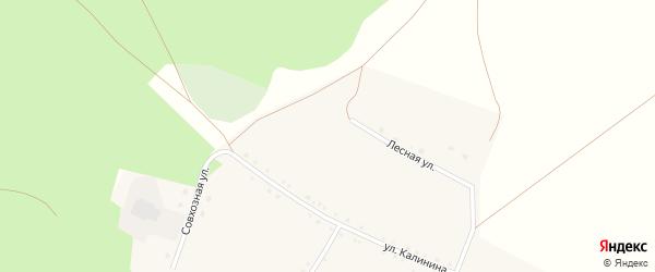 Лесная улица на карте села Татарской Караболки с номерами домов