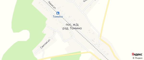 Светлая улица на карте железнодорожного разъезда Томино с номерами домов