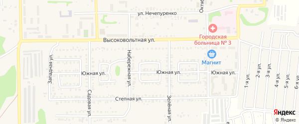 Светлый переулок на карте Первомайского поселка с номерами домов