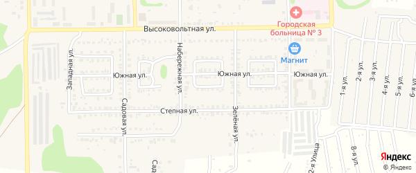 Ясный переулок на карте Первомайского поселка с номерами домов